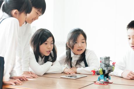 プログラミングの勉強をする小学生の写真素材 [FYI01955632]