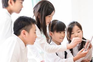 プログラミングの勉強をする小学生 ARの写真素材 [FYI01956047]
