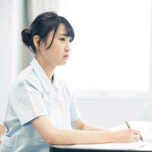 勉強をする看護学生の写真素材 [FYI01956093]