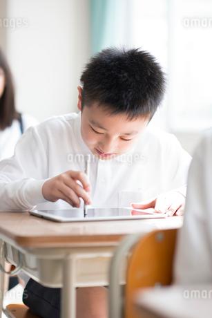 プログラミングの勉強をする小学生の写真素材 [FYI01956847]