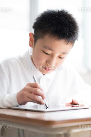 プログラミングの勉強をする小学生の写真素材 [FYI01957039]
