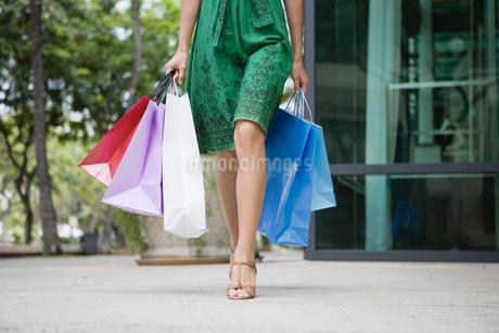 ショッピングをする日本人女性の写真素材 [FYI01960551]