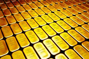 金のインゴットの写真素材 [FYI01962863]