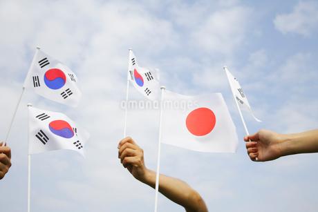 韓国の日本の国旗の写真素材 [FYI01963870]