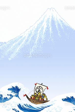 干支 寅 七福神イメージのイラスト素材 [FYI01964951]