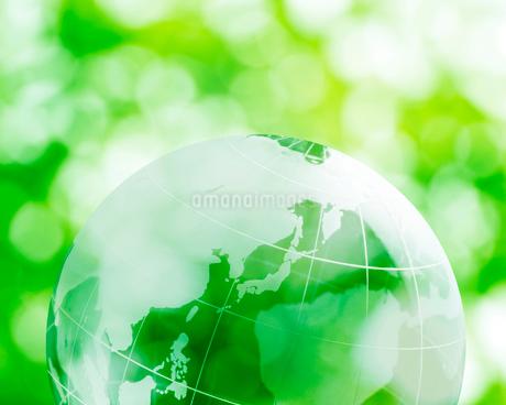 CG 地球と新緑のイラスト素材 [FYI01966352]