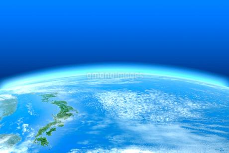 宇宙から見る日本列島イメージ CGのイラスト素材 [FYI01969522]