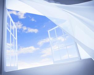 風で揺れるカーテン CGのイラスト素材 [FYI01970190]