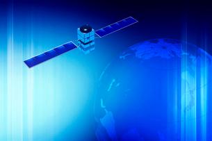 地球と人工衛星 CGの写真素材 [FYI01970459]