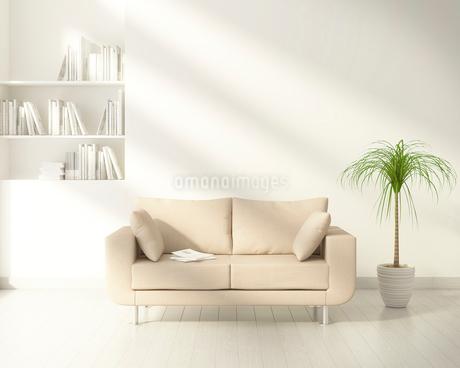 ソファのあるリビングルーム CGのイラスト素材 [FYI01970731]