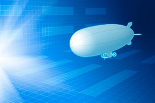 光と飛行船 CGのイラスト素材 [FYI01971861]