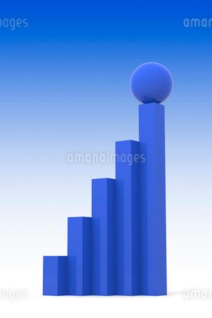棒グラフと球体 CGの写真素材 [FYI01972388]