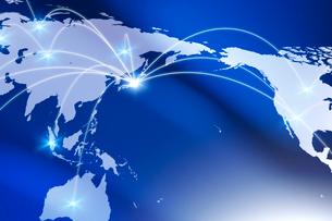 世界地図とネットワークイメージ CGの写真素材 [FYI01973029]