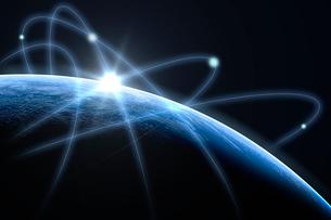 球体と光イメージ CGの写真素材 [FYI01973266]