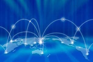 世界地図とネットワークメージ CGの写真素材 [FYI01974013]