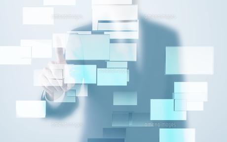 四角形とビジネスマンイメージ CGの写真素材 [FYI01974417]