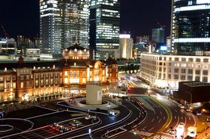 東京駅丸の内駅舎 夜景の写真素材 [FYI01974816]
