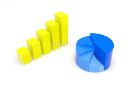円グラフと棒グラフ CGのイラスト素材 [FYI01975097]