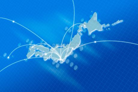 日本地図とネットワークイメージ CGの写真素材 [FYI01975108]