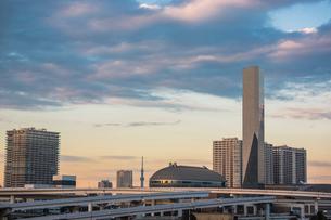 江東区有明周辺のビル群と東京スカイツリーの写真素材 [FYI01975483]