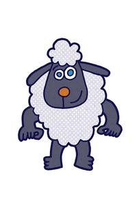 青い瞳の羊 イラストのイラスト素材 [FYI01975582]