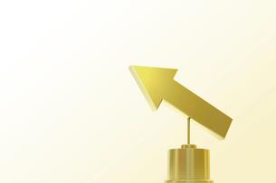 ゴールドの矢印 CGのイラスト素材 [FYI01976103]