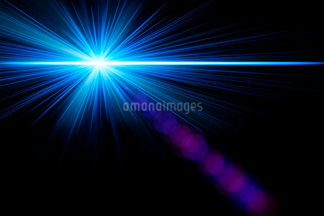 青い光の放射 CGの写真素材 [FYI01976187]
