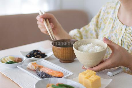 ご飯茶碗を持つ女性の手の写真素材 [FYI01976326]
