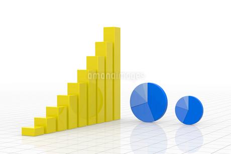 円グラフと棒グラフ CGのイラスト素材 [FYI01976401]