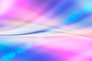 青色とピンク色の光と線 CGのイラスト素材 [FYI01976402]