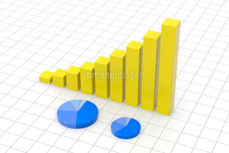 円グラフと棒グラフ CGのイラスト素材 [FYI01976941]