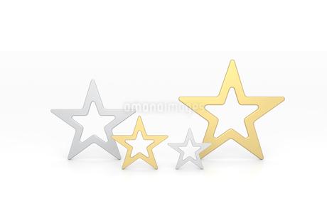 金色と銀色の星 CGのイラスト素材 [FYI01977254]