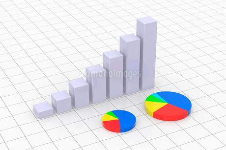 円グラフと棒グラフ CGのイラスト素材 [FYI01977386]