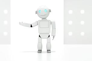 案内をするロボット CGのイラスト素材 [FYI01977588]