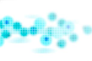 青色の円形と格子模様 CGのイラスト素材 [FYI01977819]