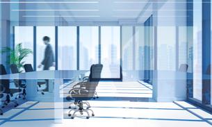 会議室を歩くビジネスマン CGの写真素材 [FYI01978558]