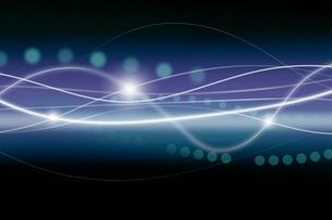 交差する曲線と光と並ぶ円形 CGのイラスト素材 [FYI01978726]