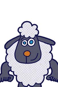 青い瞳の羊 イラストのイラスト素材 [FYI01978936]