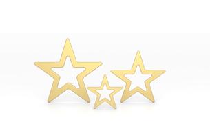 3つの金色の星 CGのイラスト素材 [FYI01979194]
