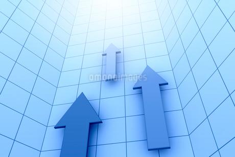 3本の矢印と光 3DCGのイラスト素材 [FYI01979717]