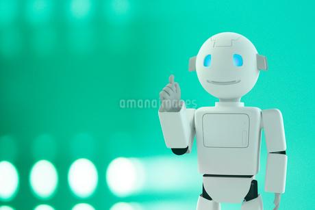 指差すロボットと光 CGの写真素材 [FYI01980013]