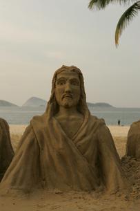 Jesus sand sculptureの写真素材 [FYI01980166]
