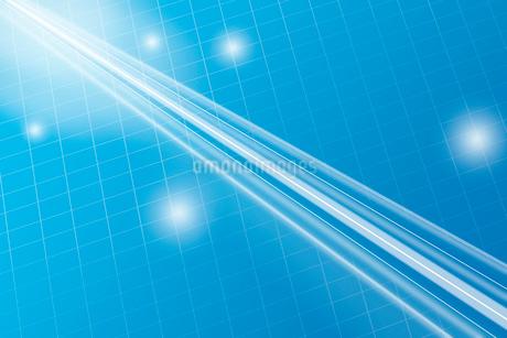 光る直線と格子模様 CGのイラスト素材 [FYI01980409]