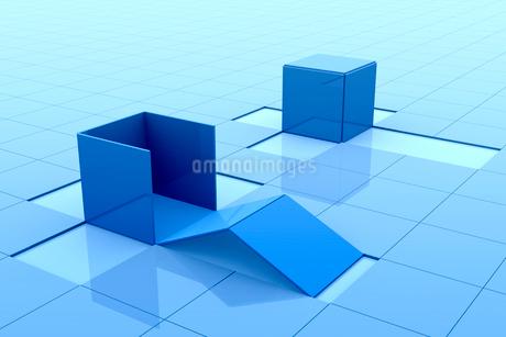 組み立てられる立体の四角形 3DCGのイラスト素材 [FYI01980586]