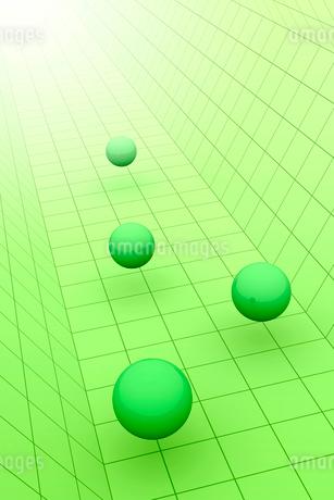 空間に浮かぶ球体と光 3DCGのイラスト素材 [FYI01980612]