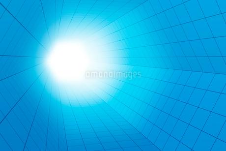 六角形の空間と光 3DCGのイラスト素材 [FYI01980617]