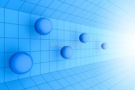 空間に浮かぶ球体と光 3DCGのイラスト素材 [FYI01980690]
