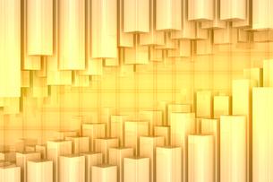四角柱の集合と格子模様 CGのイラスト素材 [FYI01980765]