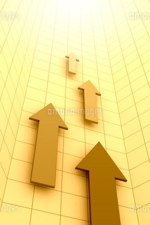 4本の矢印と光 3DCGのイラスト素材 [FYI01980932]