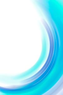 水色の曲線と光 CGのイラスト素材 [FYI01981276]